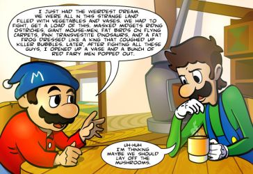 Super Mario Bros after part 2 by SilentKV