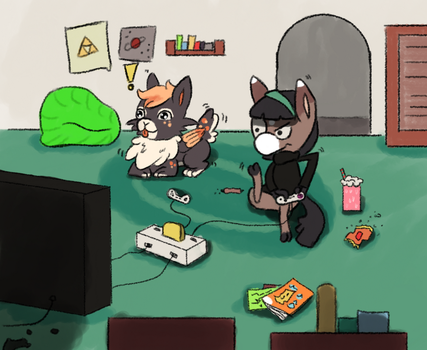 Playing together by osterfire