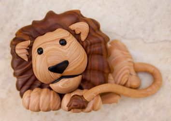 Faux Wood Lion, take 2 by FauxHead