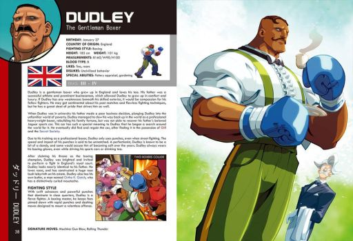 Street Fighter World Warrior Encyclopedia - Dudley by edwinhuang