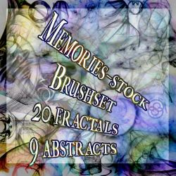 fractal + abstract set 1 by memories-stock