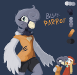 Blue Parrot: Art-Trade by Scarlet-Ajani