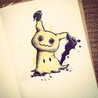 Mimikyu with copics by Kanimir