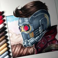 Star-Lord Drawing - Guardians of the Galaxy by LethalChris