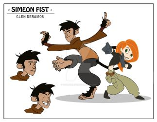 Kim Possible Style Character - Simeon Fist by quar4erlife