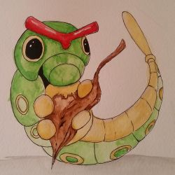 Caterpie Watercolour by A101TOME