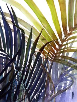 Arecaceae - household jungle in violets #3 by Zawij