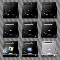 Dark Hard Drive Icons by CitizenJustin