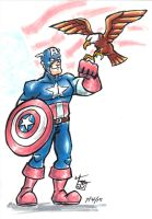 Markers - Captain America by hooksnfangs