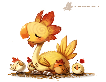 Daily Paint #1002. Kentucky Fried Chocobo by Cryptid-Creations