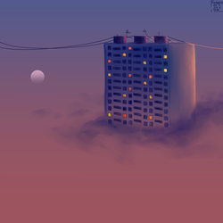 appeasement of a celestial skyscraper by KatrineIcy