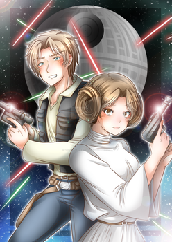 Leia and Han by TonkiPappero