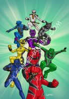 Power Rangers Jungle Fury by stratosmacca