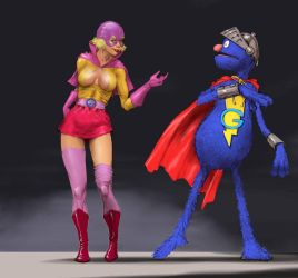 TLIID Muppet week - The Pro meets Super-Grover by Nick-Perks