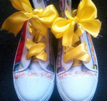Custom Disney shoes! -front/top- by blackbirdbethie88