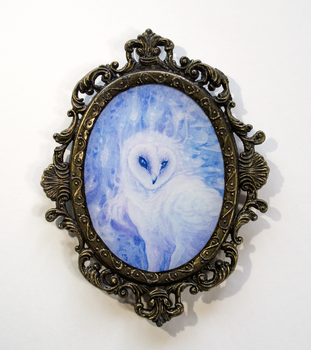 Small Frame - Barn Owl by thedancingemu
