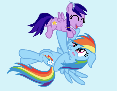 Flying with Mom by Icefeather21