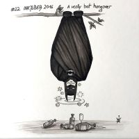 Inktober 2016 - 22: A really bat hangover by Kirana