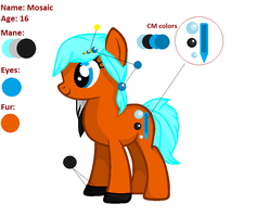 [MLP] OC Mosaic (reference sheet) by AmberPone