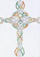Irish patterned celtic cross by Errant-Knightess