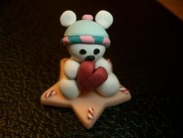 Cutie Bear with Beanie by SmallCreationsByMel
