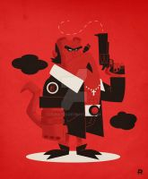 Hellboy Vector by funky23
