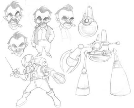 Bad Guys from 'the gNat' by borogove13