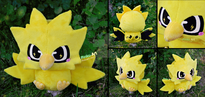 Baby Zapdos Pokedoll - Version 2! by PinkuArt