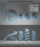 Blender 3D - Array - Empty (Plain Axes - rotation) by anul147