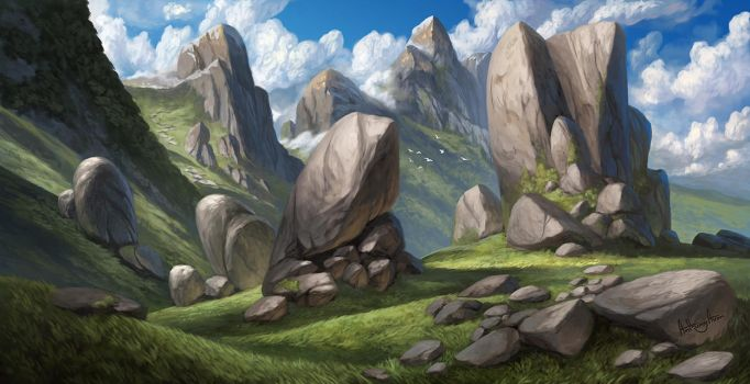 Hills and Mountains by AnthonyAvon