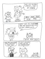 Hedgeacorn comic strip #10 - swimming lesson by dth1971