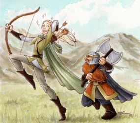 Legolas and Gimli by CaptBexx