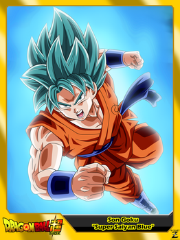 (Dragon Ball Super) Son Goku 'Super Saiyan Blue' by el-maky-z