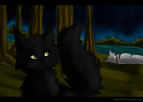 Ashfur's Death .:Warriors:. by liracal