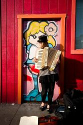 Accordion Girl by bladesilver