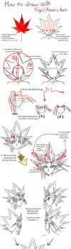 Tutorial : How To Draw Yugi's Hair by Ycajal