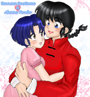 Ranma and Akane by AngieSan