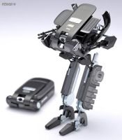 Cell Phone Robot by s0nal