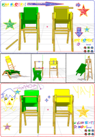 Toddler Chairs for MMD (DL) by SteelDollS