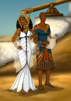 Nepthys and Sobek of Petah by StalinDC