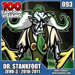 100 Cartoon Villains - 093 - Dr. Stankfoot! by CreedStonegate