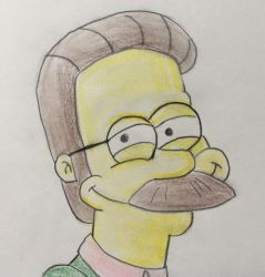 Ned Flanders by CaptainEdwardTeague