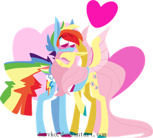 Love's in the air and it's as straight as a ruler by Darvko