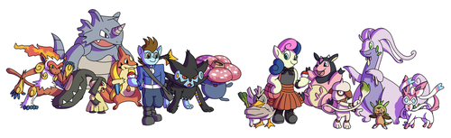 Commission - Pokemon Dream Teams, combined by Passer-in-the-Storm