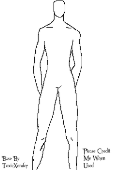Male Standing With Hands Behind Back Base by ToxicXender