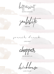 signature fonts @wfres by wildfireresources