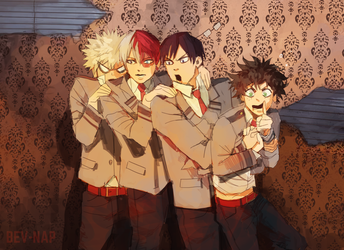 Haunted House scare BNHA by Bev-Nap