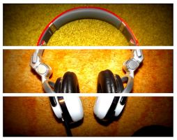 Headphone Triptych by tro0oy