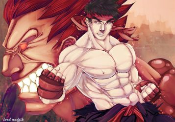 Ryu and Akuma by Lord-Nadjib