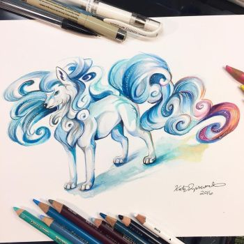 Alolan Ninetales! by Lucky978